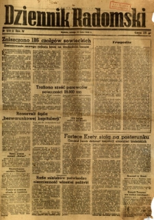 Dziennik Radomski, 1943, R. 4, nr 178