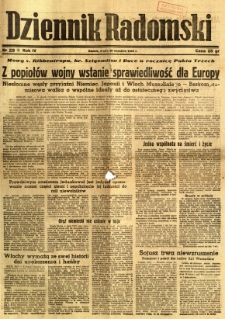 Dziennik Radomski, 1943, R. 4, nr 229