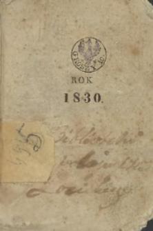 Kalendarz na rok 1830