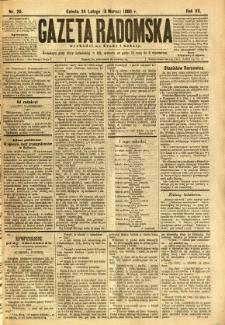 Gazeta Radomska, 1890, R. 7, nr 20