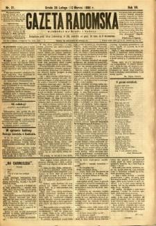 Gazeta Radomska, 1890, R. 7, nr 21