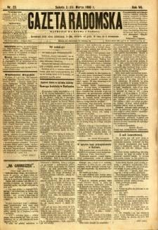 Gazeta Radomska, 1890, R. 7, nr 22