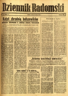 Dziennik Radomski, 1944, R. 5, nr 29