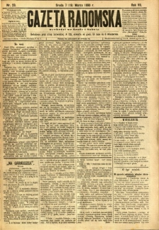 Gazeta Radomska, 1890, R. 7, nr 23