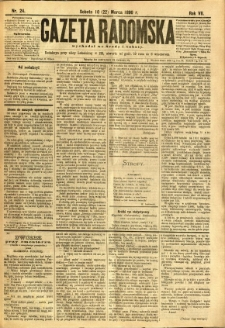 Gazeta Radomska, 1890, R. 7, nr 24