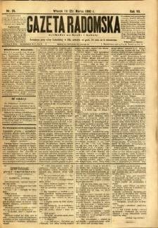 Gazeta Radomska, 1890, R. 7, nr 25