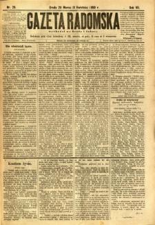 Gazeta Radomska, 1890, R. 7, nr 29