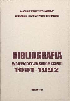 Bibliografia województwa radomskiego 1991-1992