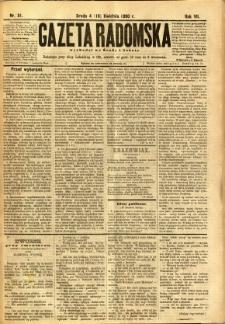 Gazeta Radomska, 1890, R. 7, nr 31