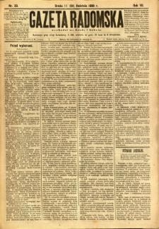 Gazeta Radomska, 1890, R. 7, nr 33