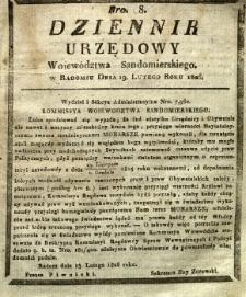 Dziennik Urzędowy Województwa Sandomierskiego, 1826, nr 8