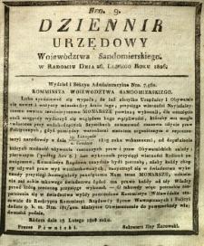Dziennik Urzędowy Województwa Sandomierskiego, 1826, nr 9
