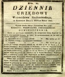 Dziennik Urzędowy Województwa Sandomierskiego, 1826, nr 10