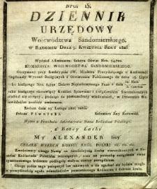 Dziennik Urzędowy Województwa Sandomierskiego, 1826, nr 15