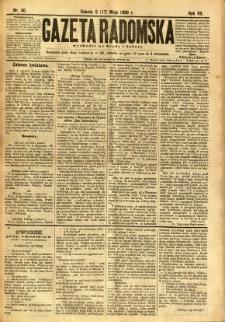 Gazeta Radomska, 1890, R. 7, nr 40