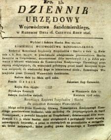 Dziennik Urzędowy Województwa Sandomierskiego, 1826, nr 25