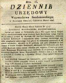 Dziennik Urzędowy Województwa Sandomierskiego, 1826, nr 26