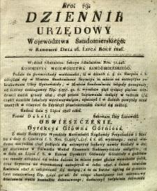 Dziennik Urzędowy Województwa Sandomierskiego, 1826, nr 29