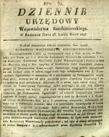 Dziennik Urzędowy Województwa Sandomierskiego, 1826, nr 30