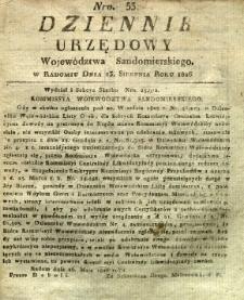 Dziennik Urzędowy Województwa Sandomierskiego, 1826, nr 33