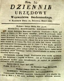 Dziennik Urzędowy Województwa Sandomierskiego, 1826, nr 34
