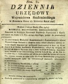 Dziennik Urzędowy Województwa Sandomierskiego, 1826, nr 35