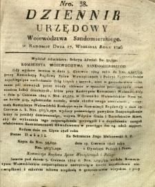 Dziennik Urzędowy Województwa Sandomierskiego, 1826, nr 38