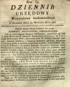 Dziennik Urzędowy Województwa Sandomierskiego, 1826, nr 39
