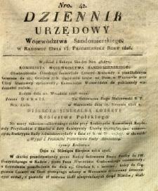 Dziennik Urzędowy Województwa Sandomierskiego, 1826, nr 42