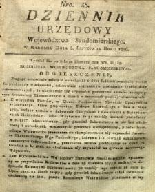 Dziennik Urzędowy Województwa Sandomierskiego, 1826, nr 45