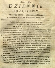 Dziennik Urzędowy Województwa Sandomierskiego, 1826, nr 46
