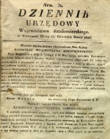Dziennik Urzędowy Województwa Sandomierskiego, 1826, nr 51