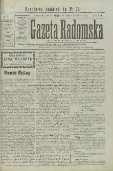 Gazeta Radomska, 1899, R. 16, nr 72, dod.