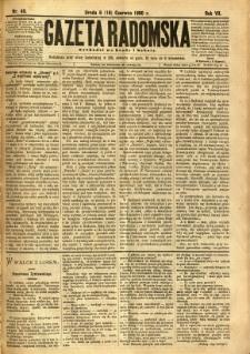 Gazeta Radomska, 1890, R. 7, nr 49