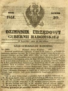 Dziennik Urzędowy Gubernii Radomskiej, 1851, nr 30