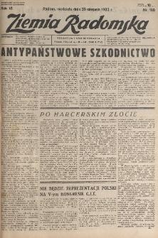 Ziemia Radomska, 1933, R. 6, nr 189