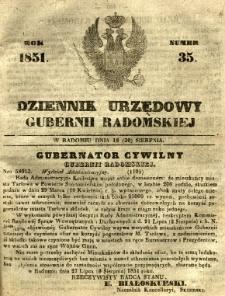 Dziennik Urzędowy Gubernii Radomskiej, 1851, nr 35
