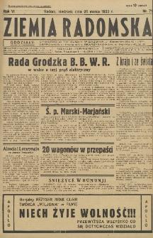 Ziemia Radomska, 1933, R. 6, nr 71