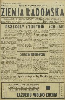 Ziemia Radomska, 1933, R. 6, nr 72