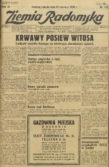 Ziemia Radomska, 1933, R. 6, nr 142