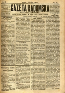 Gazeta Radomska, 1890, R. 7, nr 58