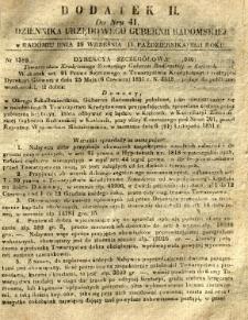 Dziennik Urzędowy Gubernii Radomskiej, 1851, nr 41, dod. II