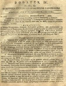 Dziennik Urzędowy Gubernii Radomskiej, 1851, nr 42, dod. IV
