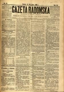 Gazeta Radomska, 1890, R. 7, nr 61