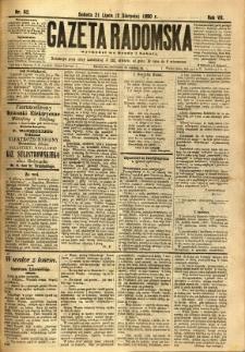 Gazeta Radomska, 1890, R. 7, nr 62
