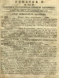 Dziennik Urzędowy Gubernii Radomskiej, 1851, nr 46, dod. II