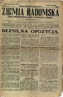 Ziemia Radomska, 1928, R. 1, nr 40