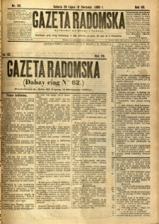 Gazeta Radomska, 1890, R. 7, nr 63