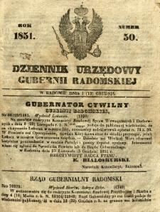 Dziennik Urzędowy Gubernii Radomskiej, 1851, nr 50