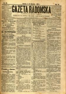 Gazeta Radomska, 1890, R. 7, nr 65